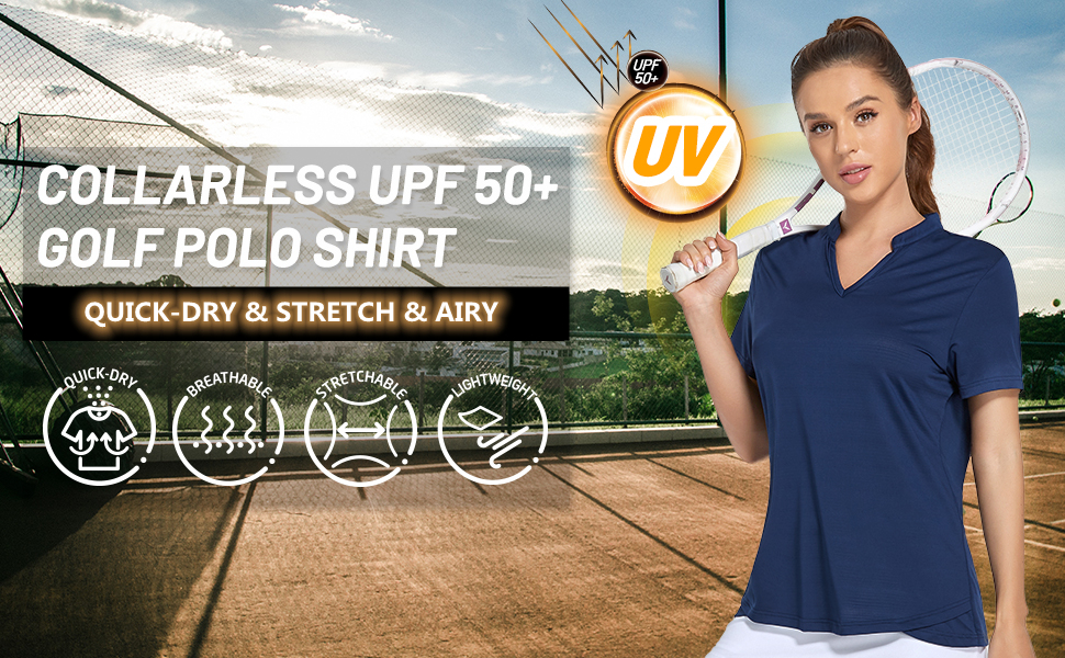 tennis golf polo shirt women uv sun protection upf 50+ athletic workout tank top shirts quick dry