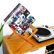 vinyl rack fits on a table