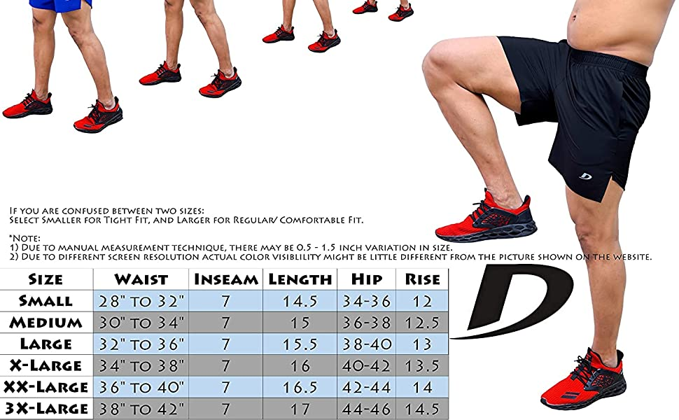 Woven Gym Running Shorts for Men Exercise Workout Training