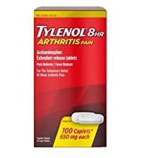 Tylenol 8-Hour Arthritis Pain Relief Caplets, acetaminophen pain reliever