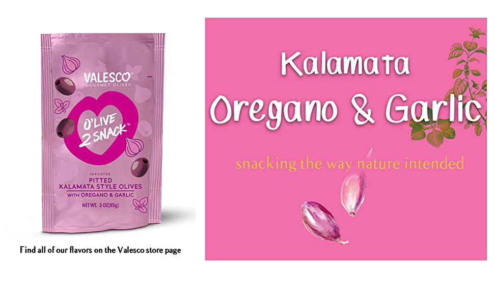 Valesco Kalamata Olives Oregano and Garlic