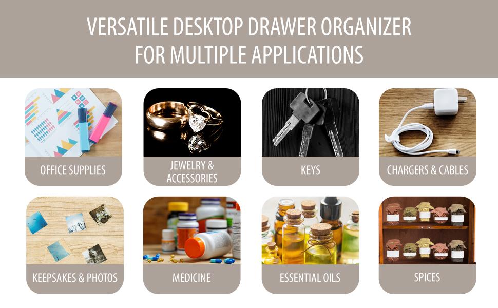 Card catalog drawers Desk drawer organizer Cubby drawer Desktop organizer with drawers