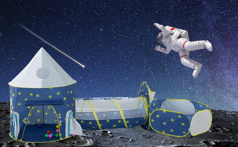 LDTNET Rocket Ship Play Tent