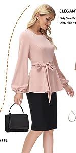 Women peplum blouse