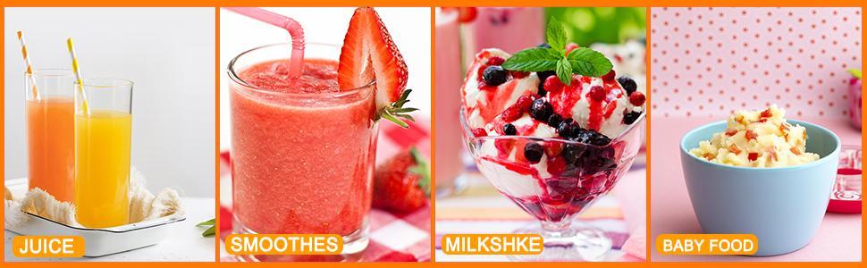 juice,smoothes,milkshke,baby food