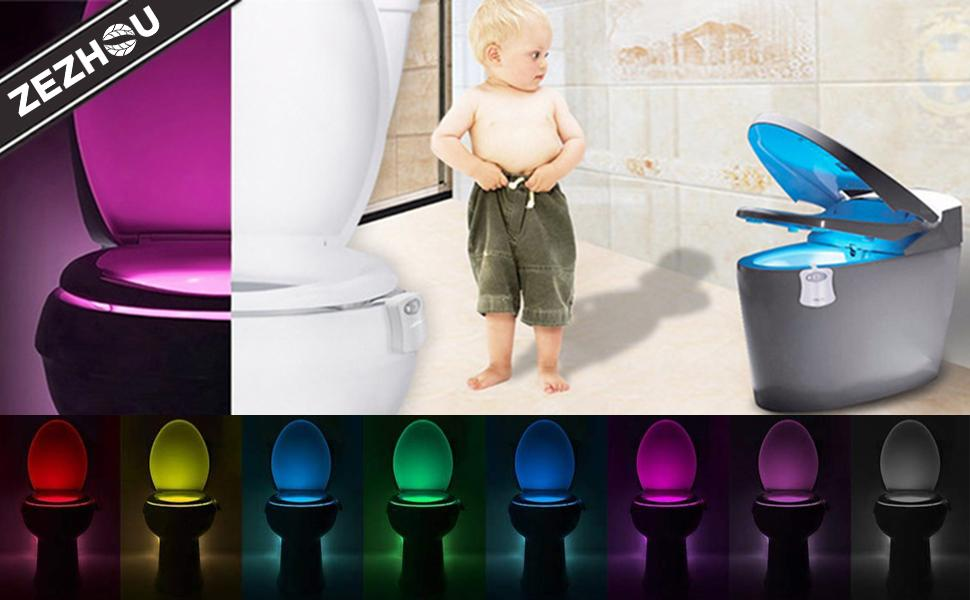 The Original Toilet Night Light Motion Sensor 8 Color Changing BY Yourself