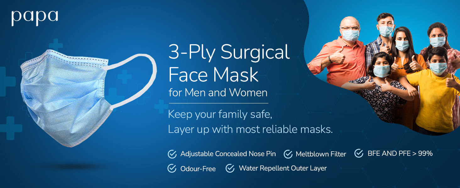 Papa 3-ply Surgical face mask