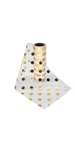 6x10 Tulle Foil Polka Dots Gold