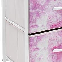 pink nightstand