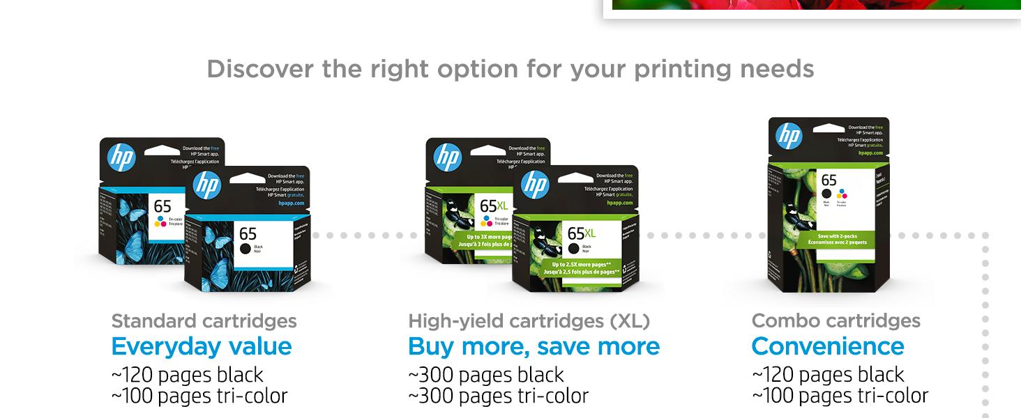 original hp 65 ink standard high-yield multipack cartridges Instant Ink value