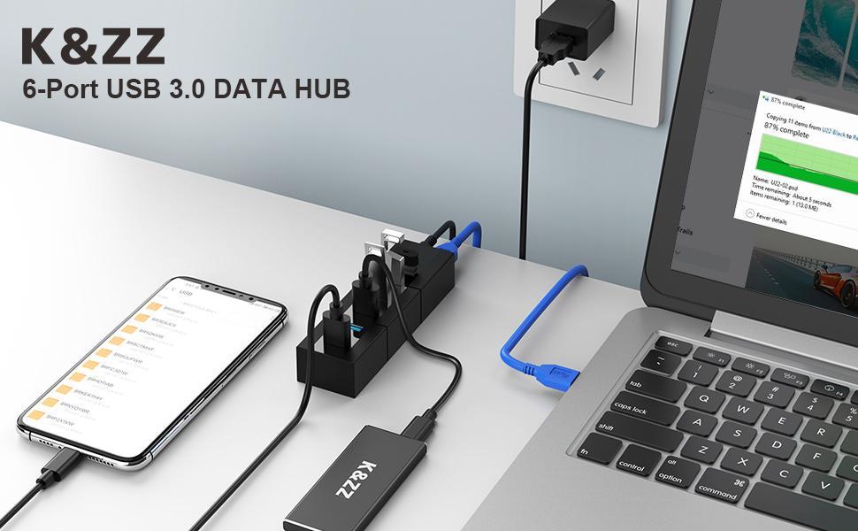 K&ZZ USB 3.0 DATA HUB