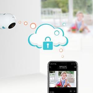 security camera home indoor wifi PTZ smart camera