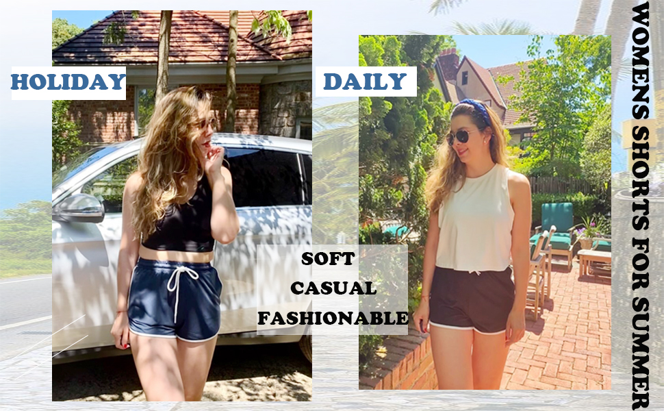 womens shorts for summer casual loose fit