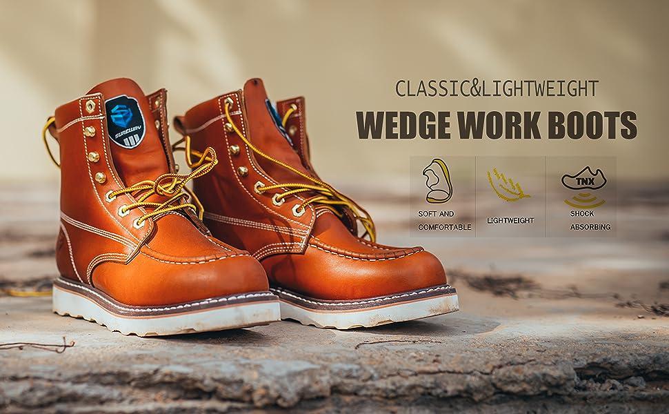SUREWAY moc toe work boots for men