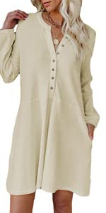 loose fit button up dress