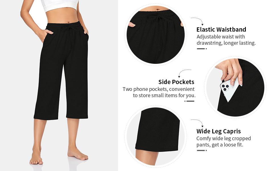 sweatpants for women, casual summer cropped pants, soft pj pants