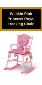 Wildkin Pink Princess Royal Rocking Chair