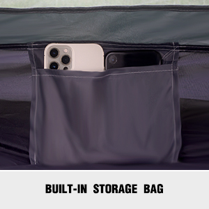 Built-in storage bag