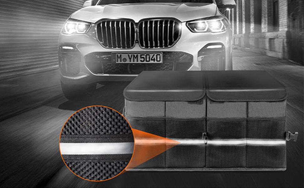 car trunk organizer cargo nylon compartment multi durable trunk organizer
