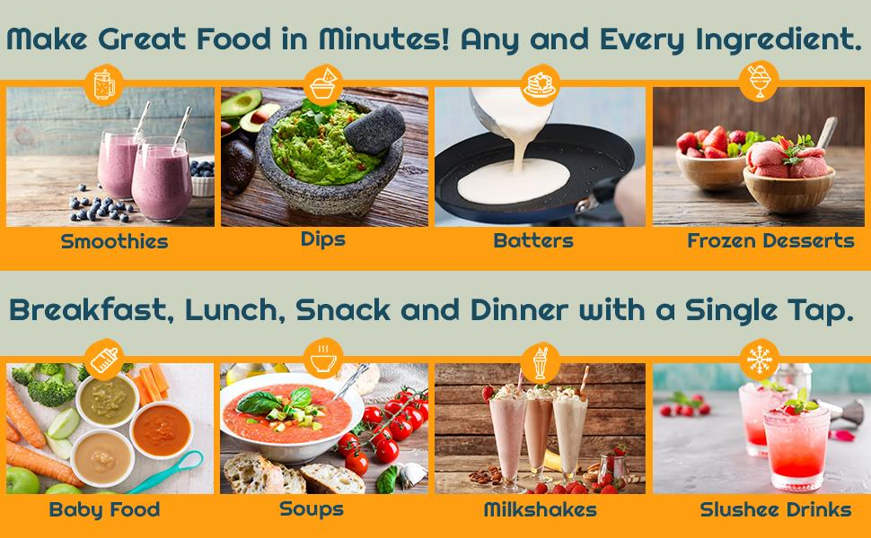 Make Great Food in Minutes! Any and Every Ingredient!