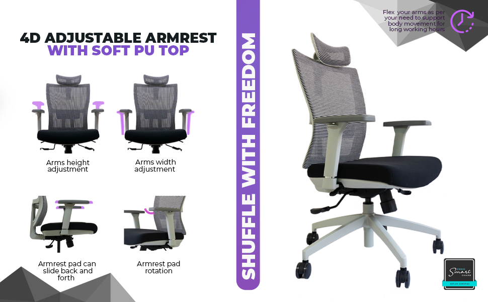 Citius, Ergonomic,Kepler Brooks, Office Chair, Furniture, High Back Office Chair, Lumbar Support