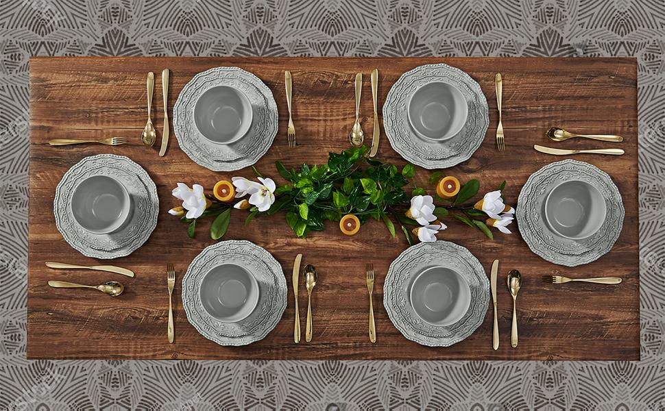 Dinnerware set for 6
