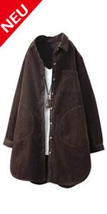 Damen Cord Jacke Übergangsjacke