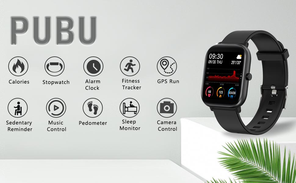 smart watch for android phones and ios iphone sansung with heart rate monitor fitness tracker