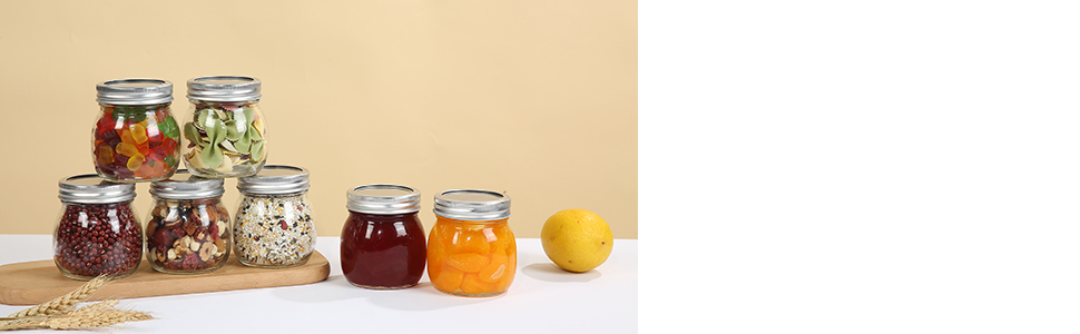 10oz glass maosn jars