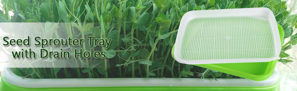 MAOPINER Seed Sprouter Tray  Nursery Tray Seed Germination Tray Wheatgrass Seeds Grower