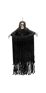 """60"""" Animated Hanging Grim Reaper with Chain"""