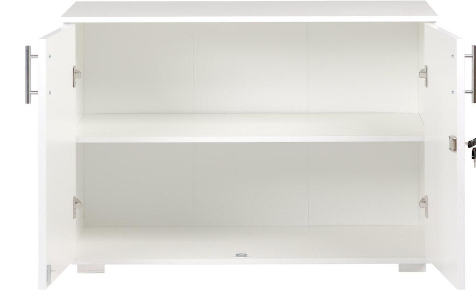 White storage cupboard