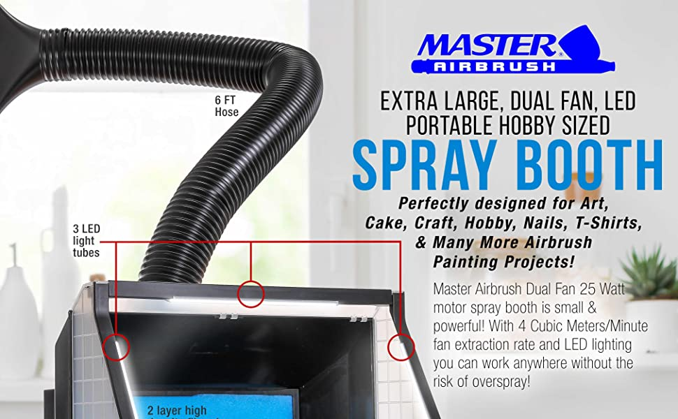 Master Airbrush Extra Large Spray Booth