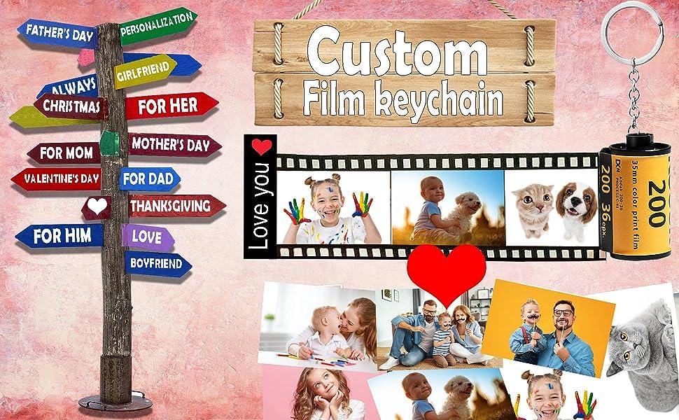 Camera film roll keychain