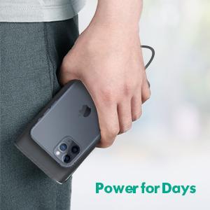 23800mAh large capacity, power severl days