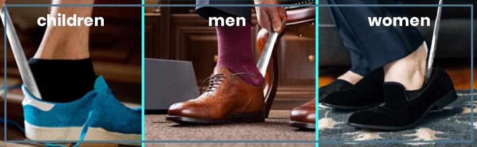 Stainless Steel Slip-on Shoes Helper for Seniors, Kids, Men amp; Women.