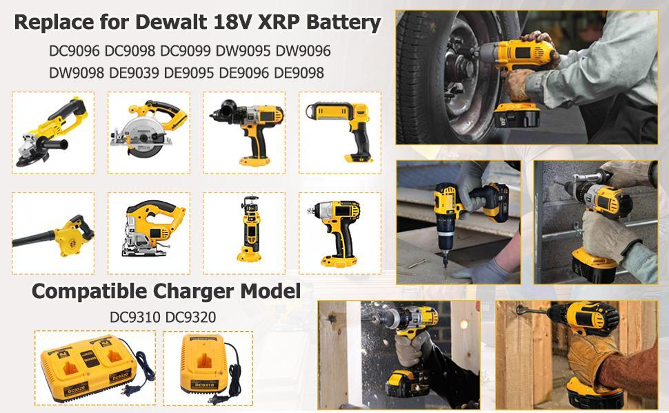 Akku Für DeWalt DC9096 18V 4,0Ah DE9039 DE9096 DE9098 DE9503 DC9098 Batterie DHL