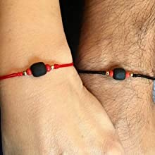 His and Hers Couples Bracelets Real Azabache for Adults Set of 2