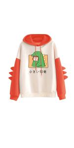 Hoodies for Teen Girls Dinasour Printed