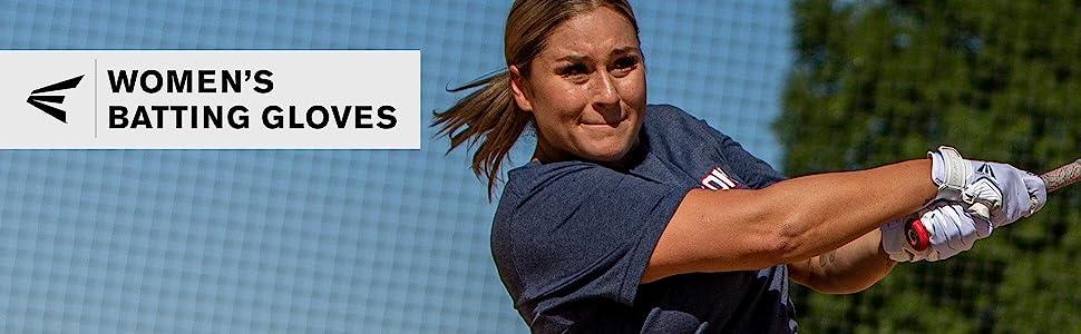Medium Pair Womens Ghost Softball Batting Glove Stars//Stripes