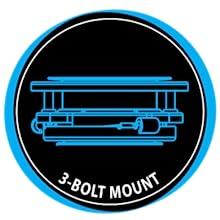 3 bolt mount