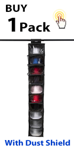 (1 Pack) STEVOY Hat Rack with Dust Shield