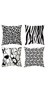 Black Throw Pillow Covers