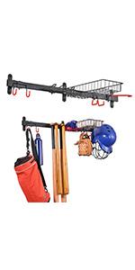 baseball bat storage rack