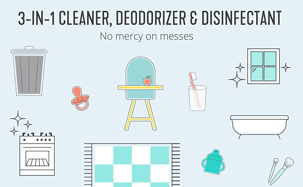 3-in-1 cleaner, air deodorizer and homemade disinfectant.