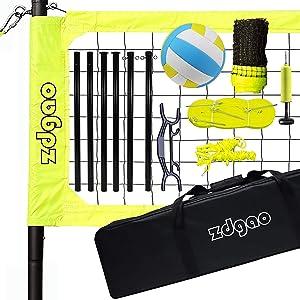 volleyball net set metal tubes