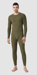 Men Waffle Knit Thermal Underwear Shirt & Pant M60
