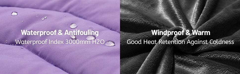 ZSHOW Girls' Water Resistant Winter Jacket