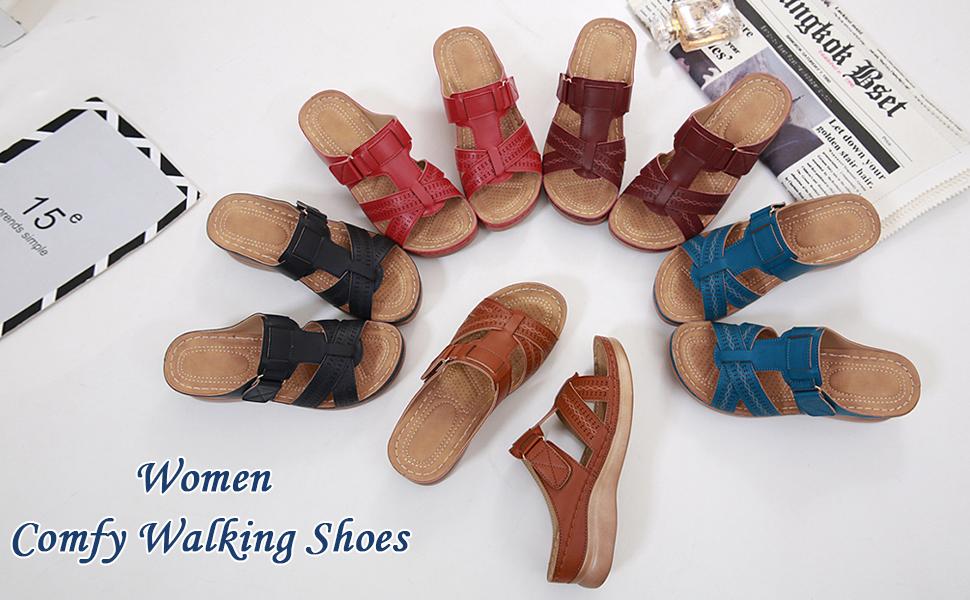 Casual Soft Leather Slipper Shoes Vintage Closed Toe Cutout Floral Sandals Slide Sandals
