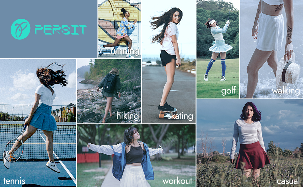 OCCASIONS TENNIS GOLF SKATER WORKOUT RUNNING HIKING WALKING CASUAL